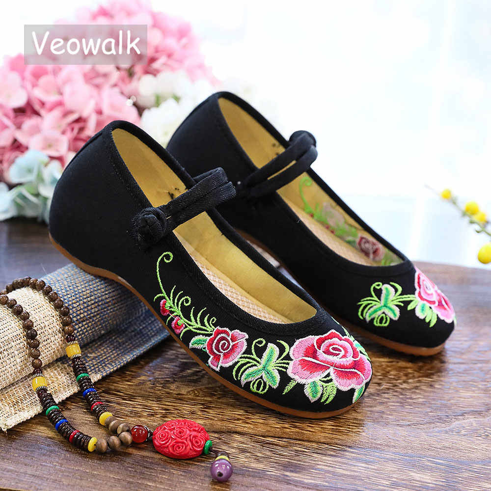 light pink Details about  /Traditional Chinese Girl Old Beijing Embroidery Floral Fabric Shoes