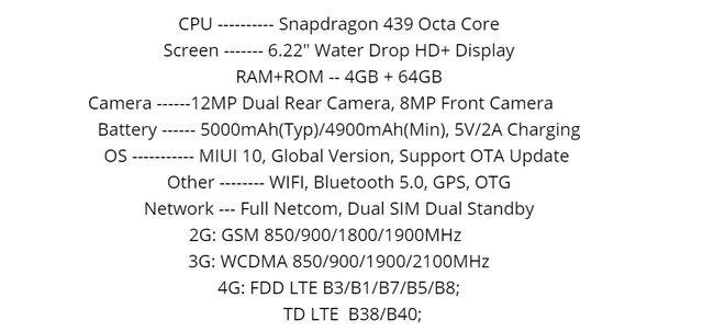 2019 Global Version Xiao Redmi 8 Smartphone 4GB RAM 64GB ROM Snapdragon 439 10W Fast Charging 5000 mah Battery Cellphone 15