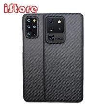 Caso de telefone de fibra de carbono para samsung s20 6.2 galaxy s20plus 6.7 s20ultra leve fina de alta resistência escudo protetor aramid caso