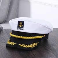 Adult Yacht Military Hats Boat Skipper Ship Sailor Captain Costume Hat adjustable Cap Navy Marine Admiral for Men Women