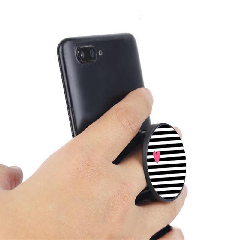 Luxe Hart Sterren Opvouwbare Telefoon Stand Houders Voor Smartphones En Tablets Mobiele Telefoon Universele Vinger Ring Houder