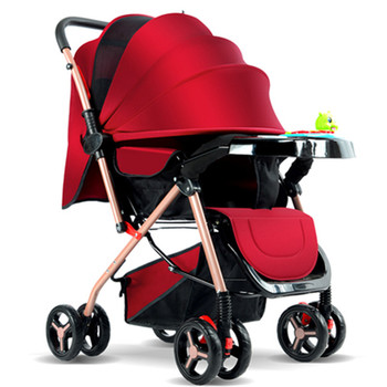 цена на Baby Stroller Two-way Can Sit Reclining Carrying Folding Baby Umbrella Four-wheeled Lightweight Push Baby Stroller