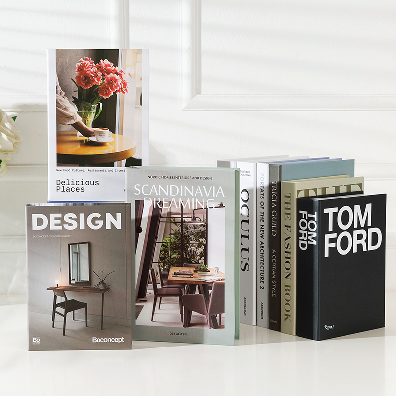 Modern Simulation Fashion Book Home Decor Club Hotel Model Room Study Soft Fake Book Decoration For