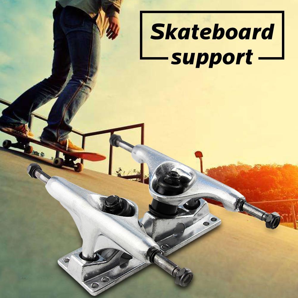 2 Pack 5 Inch Skateboard Bracket Accessories Long Board Bridge Universal Support Aluminum Skateboard Bridge Hollow Base Stands