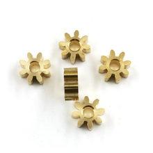 82A 0,6 M медные шестерни 6 мм Диаметр 2,5 мм ширина 8 зубьев металлические шестерни 5 шт./лот