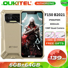 F150 b2021 6gb + 64gb ip68 impermeável áspero smartphone 8000mah 5.86 ochehelio g25 octa núcleo 13mp quad câmera celular