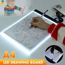 A4 conduziu a placa de desenho tracing cópia almofada led desenho tablet escurecimento arte artista tatuagem estêncil artcraft caixa de luz pintura diy placa