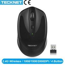 TeckNet Omni Mini Maus Computer Drahtlose Maus mit Usb empfänger 2,4 GHz Chic Mäuse 1 Batterie Einstellbare 1600DPI Mäuse für Laptop