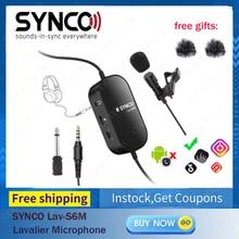 SYNCO Lav-S6M Lavalier, Clip-auf Revers Mikrofon mit 3,5mm Audio Überwachung, 6M Kabel Kugelcharakteristik-kondensatormikrofon Mic Unterstützung USB