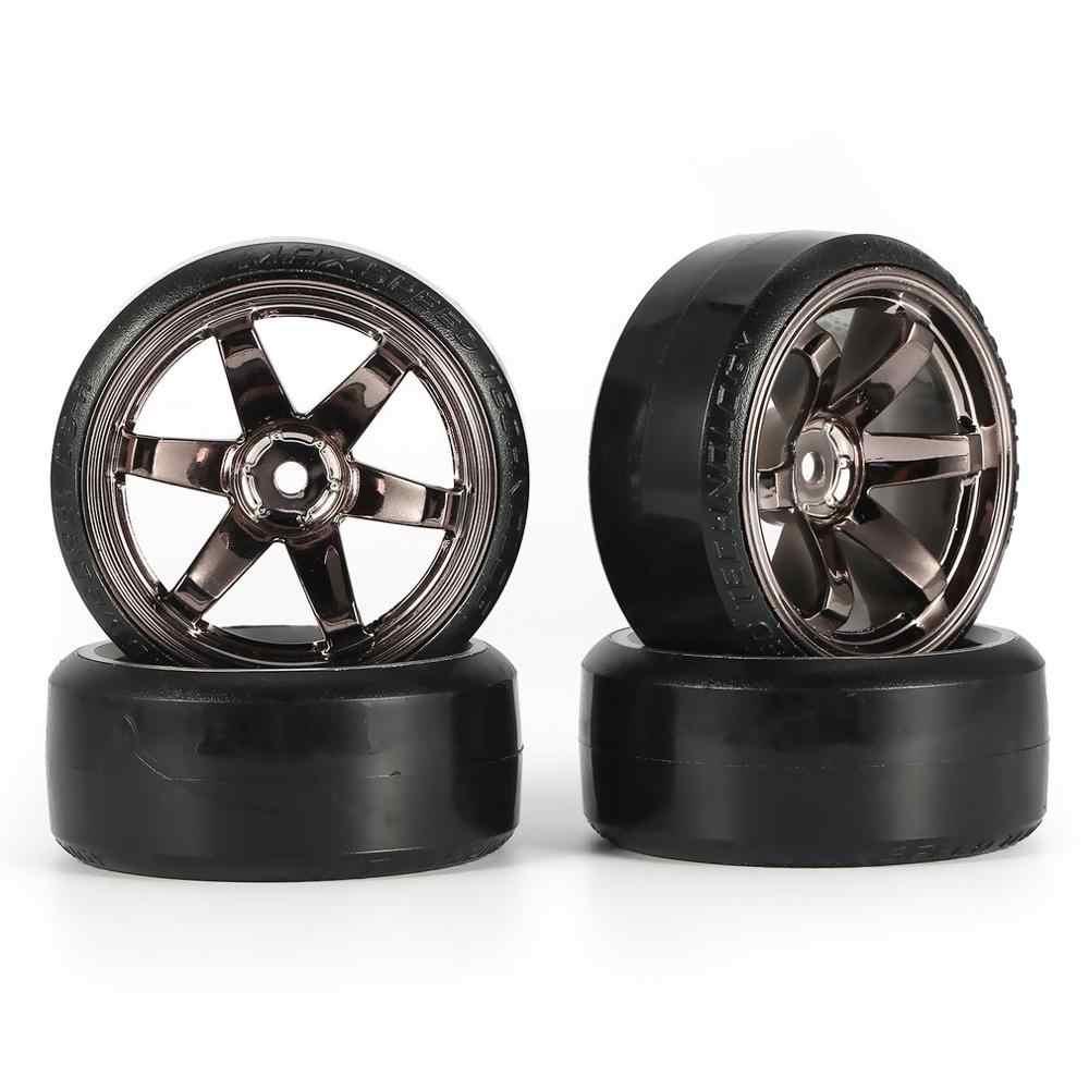 4Pcs RC Hard Pattern Drift Tires Tyre Wheel for Traxxas HSP Tamiya HPI 1:10 RC