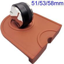 Tamper Coffee Leveler Depth-Espresso Adjustable Silicone 53/58mm with Mat Distributor