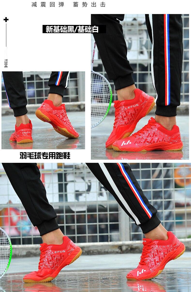 anti deslizamento atlético sapatos badminton sapatos masculinos esporte