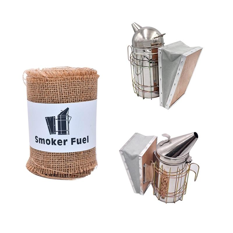 300CM/Roller Hessian Bee Smoker Fuel Burlap Smoker Fuel Beekeeping Smoker Fuel Cleaner Smoke Less Irritant to Bees