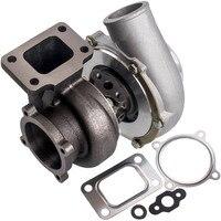 Turbocompressor gt3582 gt35 ar0.70 ar 0.63 t3 turbocompressor habitação 4 parafusos do motor turbocompressor equilibrado anti impulso|Peças e carregadores de turbo| |  -