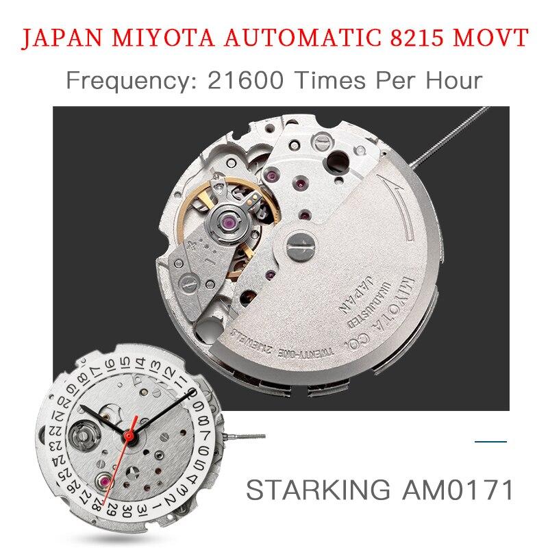 STARKING montre mécanique hommes mis5 Movt acier inoxydable montre bracelet saphir automatique auto vent hommes montre Relogio 3ATM AM0171 - 6