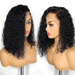 Deep Curly 360 Lace Frontal Wig 180% 13X6 Lace Front Human Hair Wigs For Women Short Bob Venvee Black Brazilian Remy Hair