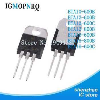 10PCS BTA10-600B BTA12-600B BTA12-600C BTA12-800B BTA16-600B BTA16-800B BTA16-600C TO220 600V 8A new - sale item Active Components