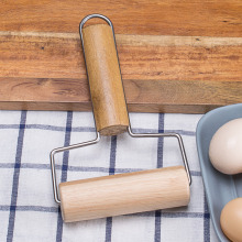 Solid wood roller rolling pin baking pizza dumpling skin pressing noodle stick tool