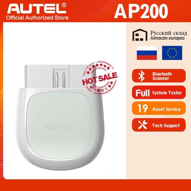 Autel AP200 Bluetooth OBD2 kod skanera czytnik z pełne systemy diagnozuje AutoVIN TPMS IMMO usługi dla rodziny DIYers PK Mk808
