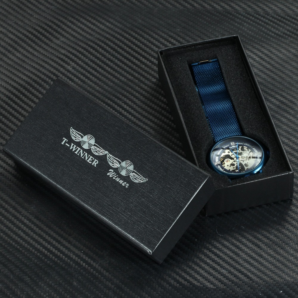 H4bde39eaa8324914ad3d37db73f87eddr WINNER Official Fashion Casual Men Mechanical Watch Blue Mesh Strap Ultra Thin Skeleton Mens Watches Top Brand Luxury Clock 2019