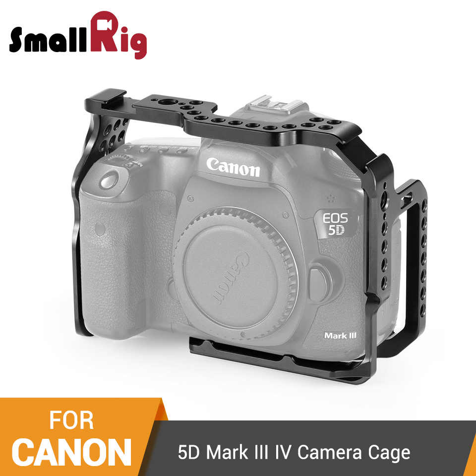 SmallRig Protective Cage for Canon 5D Mark III IV Camera With Bulit-in NATO Rails Arca Swiss Plate - 2271