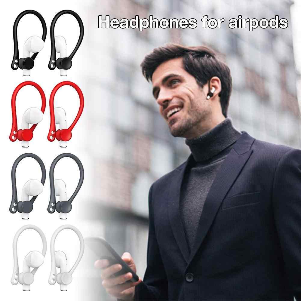 Pokrywa ochronna do skorzystania z bezprzewodowy zestaw słuchawkowy Bluetooth sportowe silikonowy rękaw zaczep na ucho słuchawki dla Airpods 1/2