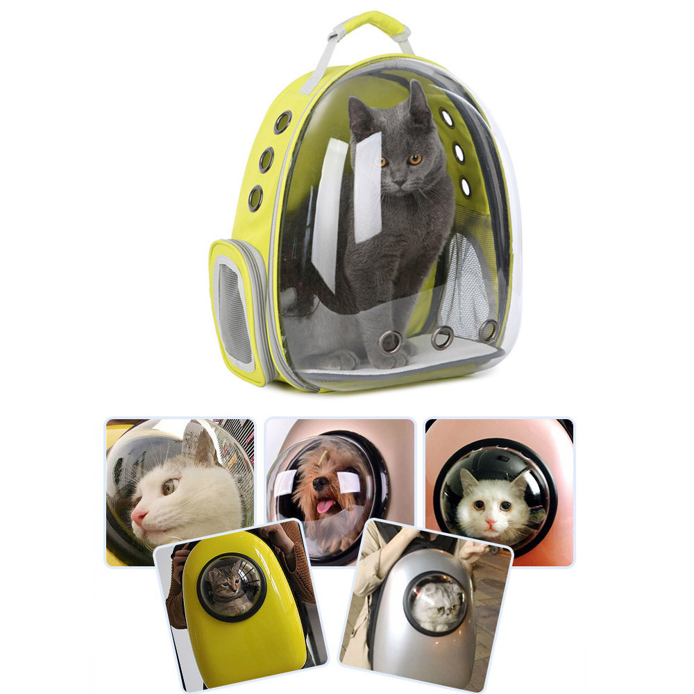 Respirant espace Capsule animal de compagnie chat chien transporteur sac chiens sac à dos pour Kitty chiot Chihuahua petits animaux de compagnie en plein air voyage sacs Cave - 3