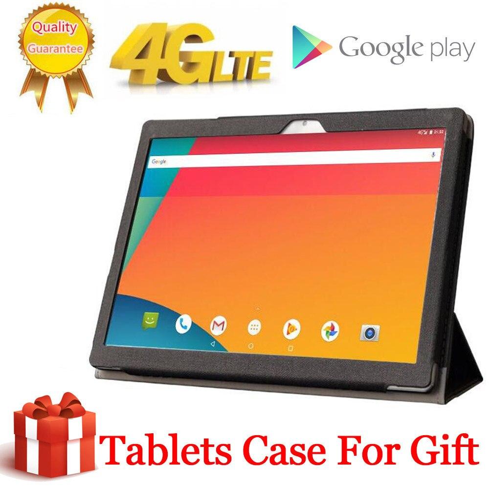 2020 Free Gift Case Big Battery 8000mAH 256G 4G LTE FDD 10.1 Inch 2.5D Tablet Pc 10 Deca Core MT6797 8GB RAM 256GB ROM 2560*1600