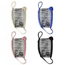 Винтажная заколка для волос в форме банана рождественские аксессуары для волос растягивающийся гребень банан F42B