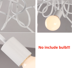 Image 4 - 천장 조명 현대 노르딕 간단한 맞춤형 크리 에이 티브 램프 북유럽 레스토랑 침실 거실 금속 재료 철
