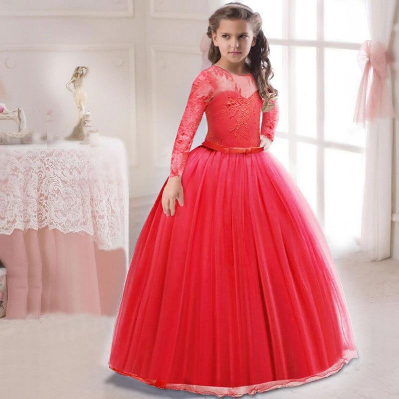 Hot Selling Children's Dress Long Sleeve Big Boy Tutu Hot Selling European And American-Style Princess Skirt