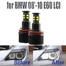 240W oczy anioła LED żarówki 6000K biały diament 4000lm dla BMW 2008 2010 5 serii E60 (LCI)