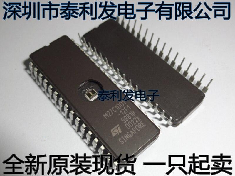10 шт./лот M27C1001-12F1 M27C1001 27C1001 CDIP28 чипы памяти для автомобиля микрокомпьютер с одним чипом Бесплатная доставка