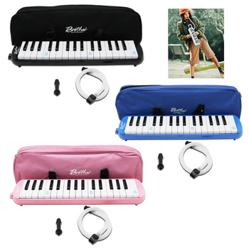 swan 37 keys melodica teaching music fundamentals mouth organ melodica black color musical instruments accordion accessories 32-Key Melodica Melodion Musical Instrument Develop Toys with Mouthpieces Pipe Oxford Cloth Bag Children Kids Adults Music Gifts