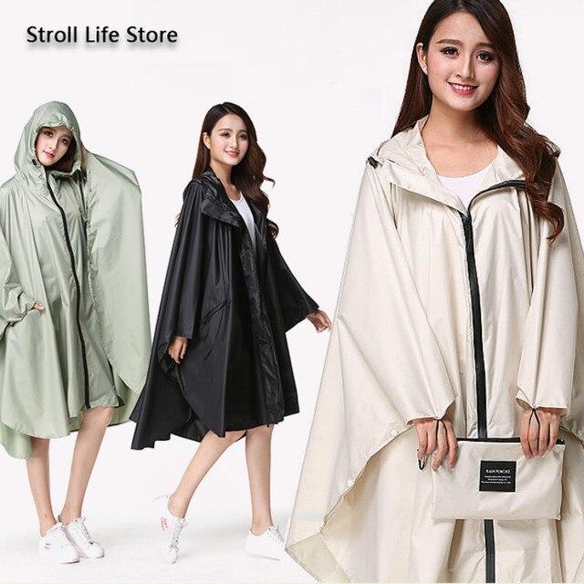Adult Raincoat Women Long Rain Poncho Lightweight Plus Size Rain Coat Waterproof Windbreaker Jacket Gabardina Mujer Gift Ideas 3