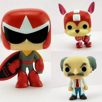 цена на Games Proto Man /Rush /Dr. Wily model toy Action Figure Kids Toys Gift NO BOX