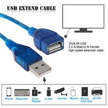 Câble d'extension USB Super vitesse USB 3.0 câble mâle à femelle synchronisation des données USB rallonge câble d'extension 3m Extension