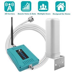 Image 1 - 800/900/1800/2100/2600/MHz 2G 3G 4G GSM مكرر شبكة المحمول الداعم هاتف محمول مكرر 4G LTE مكبر للصوت إشارة الداعم مجموعة