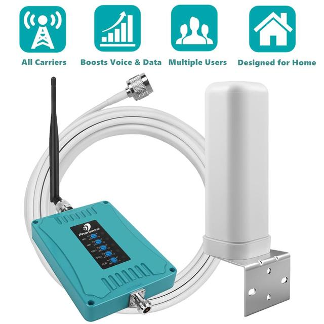 800/900/1800/2100/2600/MHz 2G 3G 4G GSM مكرر شبكة المحمول الداعم هاتف محمول مكرر 4G LTE مكبر للصوت إشارة الداعم مجموعة