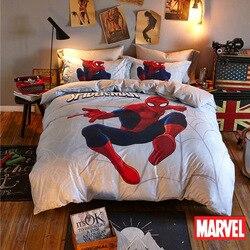 Original Marvel Red Spiderman Bedding Set for Kids Comforter Duvet Covers Pillowcases Twin Queen Pillowcases for Boys Home Decor
