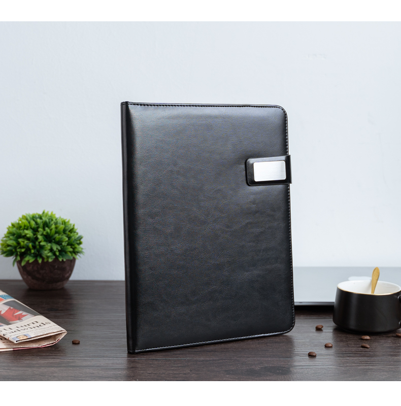 A4 Document Folder PU Leather Conference Bag Business Briefcase Office School Supply File Folder Padfolio With Calculator