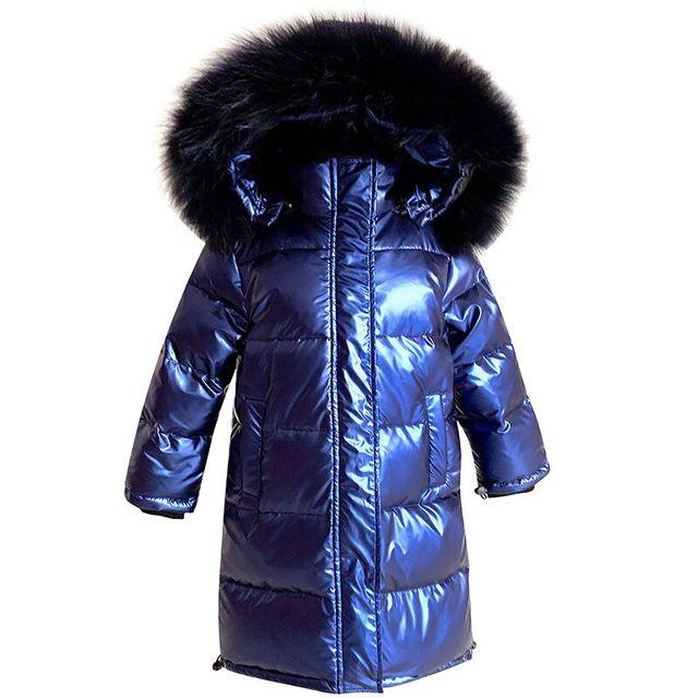 -30 Degrees Russian Winter Snowsuit 2019 Boys Girls Duck Down Jacket Waterproof Hooded Coat Teenager Kids Fur Collar Parka 6