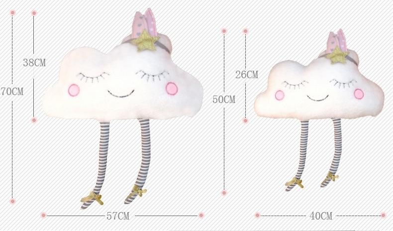 Bebê travesseiro nuvem padrão macio almofada para