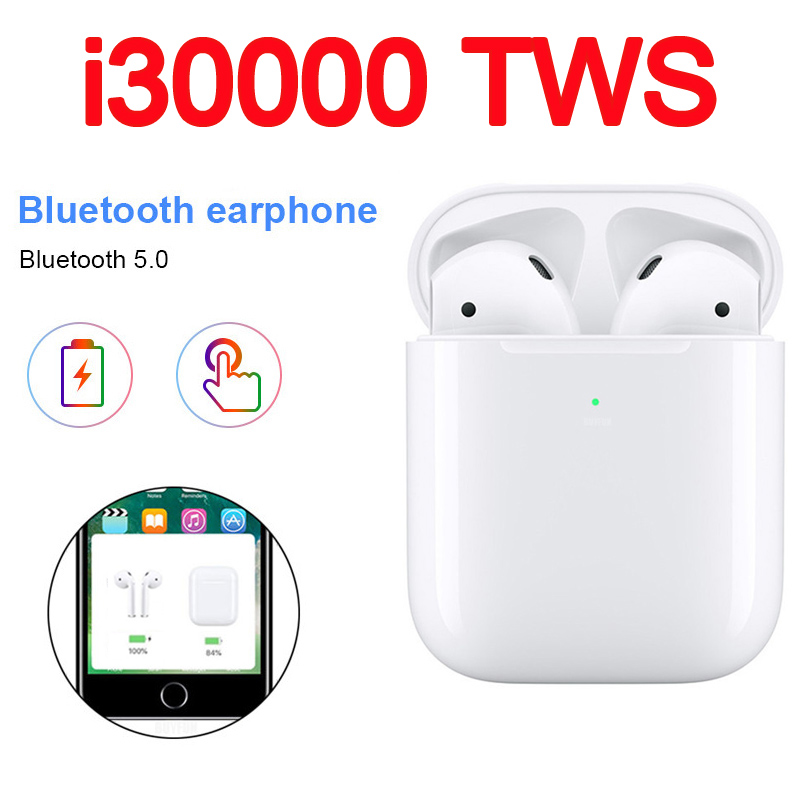 Original I30000 TWS Bluetooth 5.0 Earphones Sports True Wireless Earbuds Touch Earphones Not I9000 I80 I2000 I10000 I20000  Tws