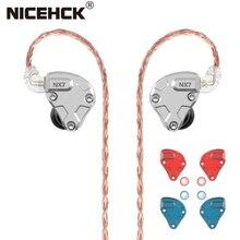 NICEHCK auriculares HIFI NX7 Pro con 7 unidades de controlador, 4BA + Dual CNT Dynamic + cerámica piezoeléctrica, filtro reemplazable híbrido, Facepanel IEM