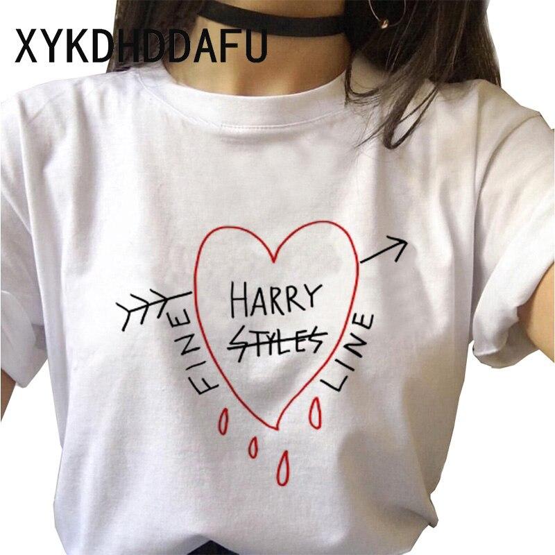 Camiseta de Harry Styles para mujer, remera Harajuku, ropa urbana estética, camiseta Ulzzang, playera Vintage de Hip Hop para damas 2020