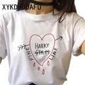 Футболка Harry Styles женская, Харадзюку, эстетическая уличная одежда Ulzzang футболка винтажная хип-хоп мода футболка Женская 2020