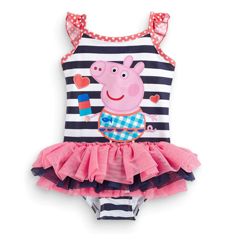 AliExpress New Style Bathing Suit Fashion Sweet Cute One-piece Swimsuit For Children Long-term