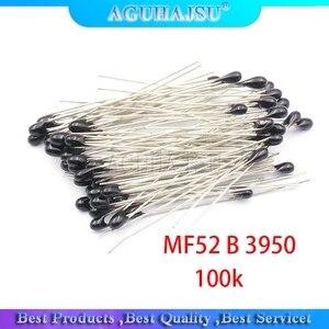 100pcs ntc-mf52at ntc thermistor temperature sensor ntc thermistor 100k ntc MF52AT MF52 3950 100 k ohm ntc 3950 1% ntc-100k/3950