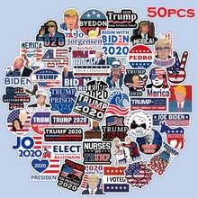 50 шт. стикер президент Дональд Трамп s на ноутбук автомобиль телефон мотоцикл багаж Декор ПВХ водонепроницаемый стикер игрушки